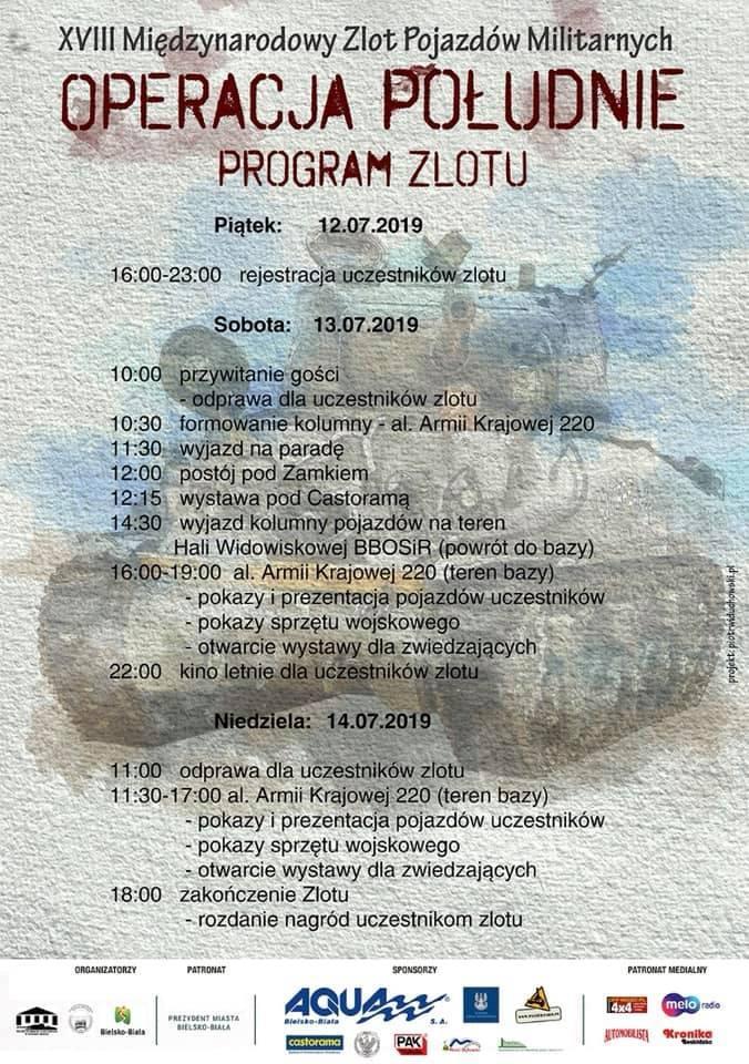 """Zlot pojazdów militarnych """"Operacja Południe"""" w Bielsku - Białej już w ten weekend i to w nowej lokalizacji PROGRAM"""