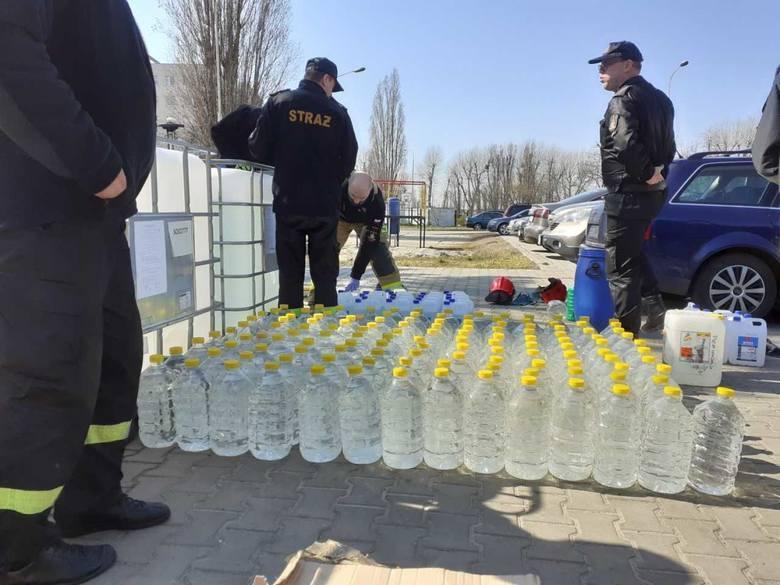 Ponad 1000 litrów alkoholu do odkażania dla szpitali i służb. W większości to produkt pochodzący z przestępstw