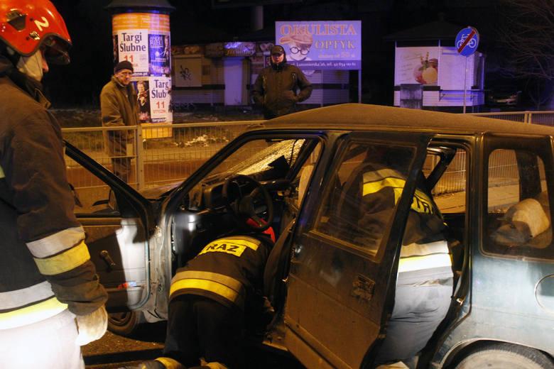 Wypadek na skrzyżowaniu ulic Zachodniej i Lutomierskiej