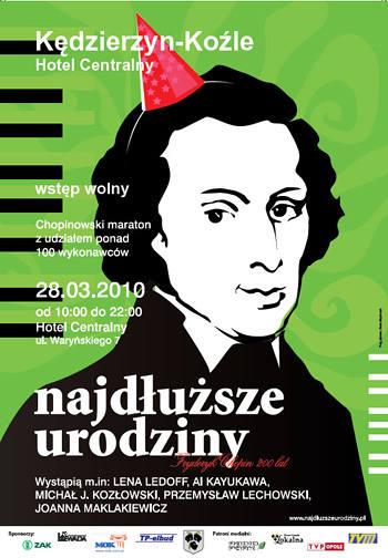 Chopinowski maraton - najdłuższe urodziny w Kędzierzynie-Koźlu