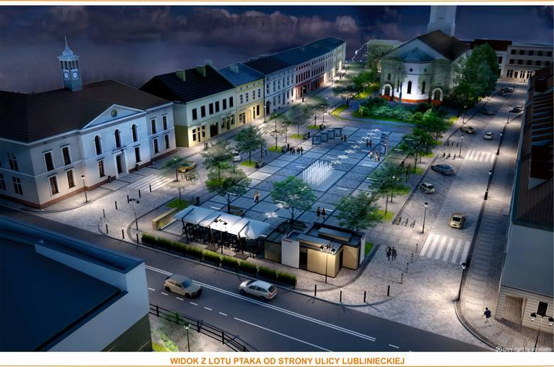 Tak będzie wyglądać po rewitalizacji plac Wolności, czyli rynek w Dobrodzieniu.