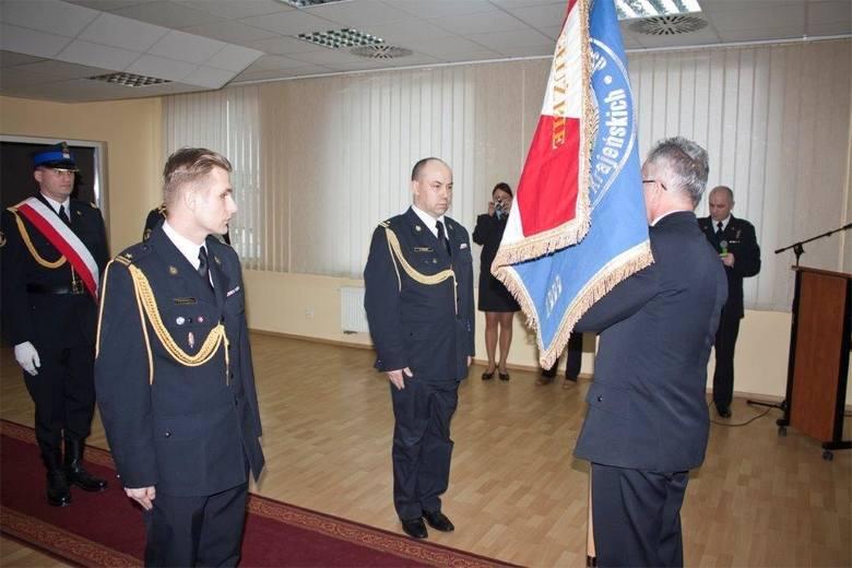 Andrzej Cacek, komendant powiatowy straży pożarnej w Strzelcach Krajeńskich.