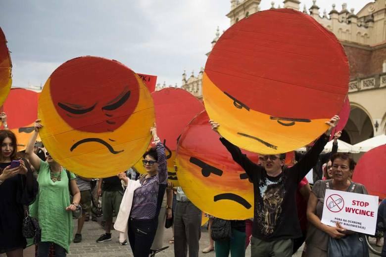 Krakowianie solidarni z obrońcami Puszczy Białowieskiej [ZDJĘCIA, WIDEO]