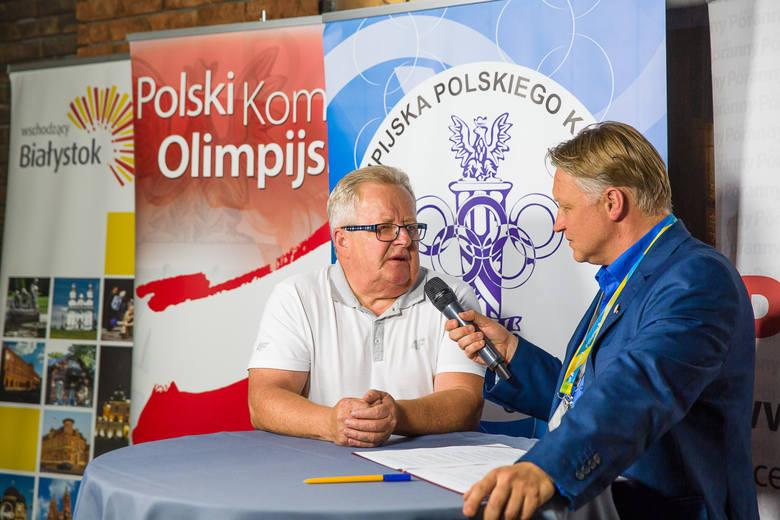 8.08.2016, Bialystok: Wojciech Fortuna udziela wywiadu