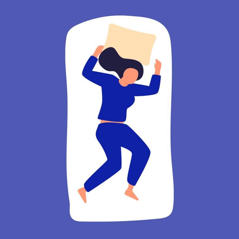 SWOBODNE SPADANIEulubiona pozycja osób o zarobkach większych niż 260 tys. zł rocznieBadaczka na potrzeby ankiety wyróżniła 8 układów ciała podczas snu.