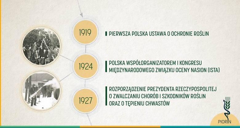 - Początki działalności zorganizowanych służb ochrony roślin i nasiennictwa datuje się na drugą połowę XIX wieku, jednak prawdziwy jej rozkwit przyszedł