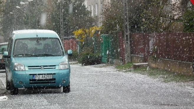 Sobota, ostatni dzień marca, była bardzo zimna i ... śnieżna