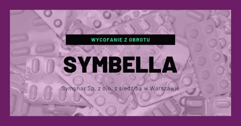 Symbella 0,03 mg + 2 mg, tabletki powlekane- Nr serii: A3327, data ważności: 08.2020- Podmiot odpowiedzialny: Symphar Sp. z o. o. z siedzibą w Warsz