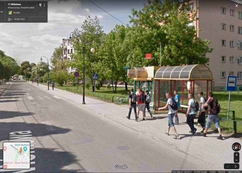 """Kolorowy samochód lub inny pojazd z logo Google i charakterystyczną """"kopułką"""" na górze można było zauważyć na ulicach Włoszczowy, w"""
