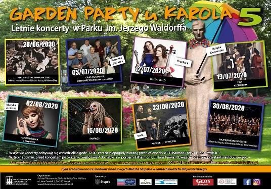 Przyjdź na Garden Party u Karola. Pierwszy koncert 28 czerwca