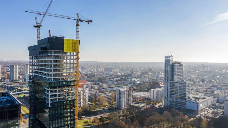 Wieżowiec .KTW II w Katowicach.Zobacz kolejne zdjęcia. Przesuwaj zdjęcia w prawo - naciśnij strzałkę lub przycisk NASTĘPNE