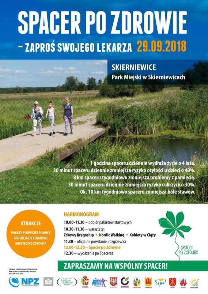 Spacer po zdrowie w Parku Miejskim w Skierniewicach