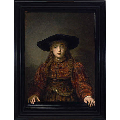 """Dzieło Rembrandta """"Dziewczyna w ramie obrazu"""""""