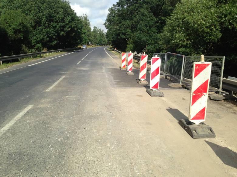 Droga w okolicach Promna po remoncie