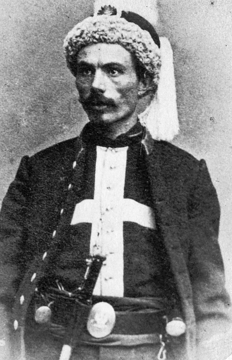 Płk. Franciszek Maksymilian Rochebrune, twórca Pułku Żuawów Śmierci i jego dowódca. <br /> <br />