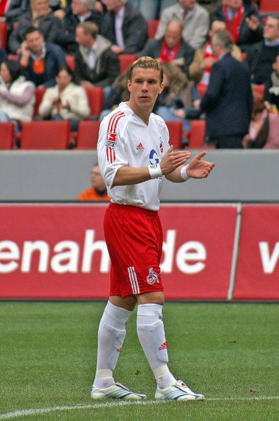 Lukas Podolski strzelił gola w 7 minucie meczu.