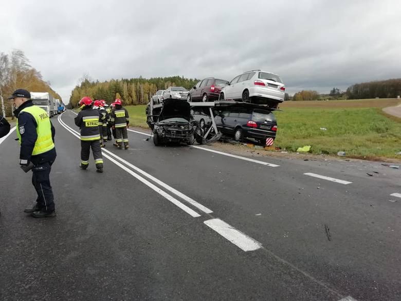 Do tego wypadku doszło w środę przed godziną 10. w miejscowości Krasne Folwarczne (pow. moniecki) na DK 8. Ze wstępnych ustaleń policjantów wynika, że