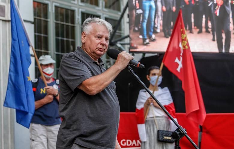 Solidarni z Białorusią! Wiec przeciw represjom Łukaszenki w Gdańsku 14.08.2020