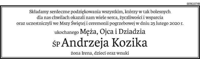 Nekrologi i Kondolencje z dnia 06 marca 2020 roku