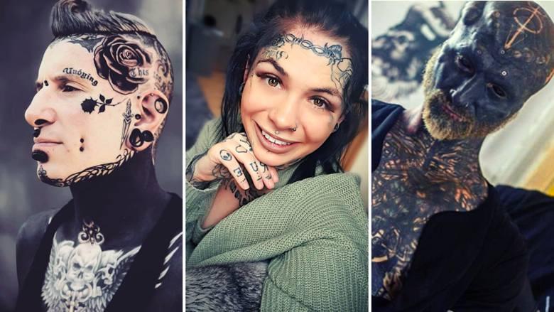 Tatuaże na twarzy wciąż szokują. Choć dla wielu z nas taka ozdoba to przesada, nie brakuje osób, które chętnie się w ten sposób przyozdabiają - zobaczcie
