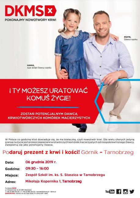 Akcja rejestracji dawców szpiku w Tarnobrzegu. Przyjdź w piątek do