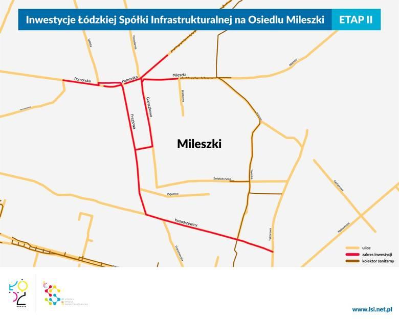 Prace ŁSI na Mileszkach - będą zamknięte ulice