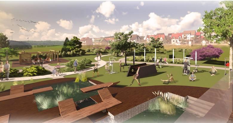 Projekt Parku Miejskiego w Chęcinach