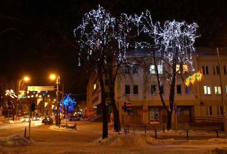 Bielsk Podlaski - najładniejsze zimowe iluminacje