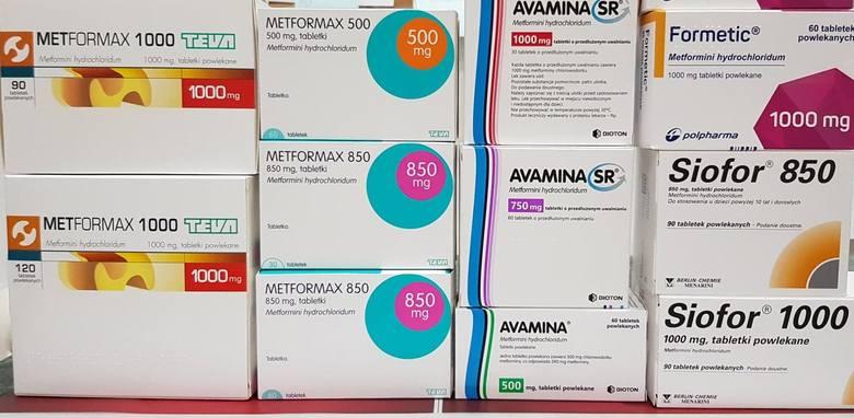 Metformina występuje w wielu lekach o różnych nazwach handlowych