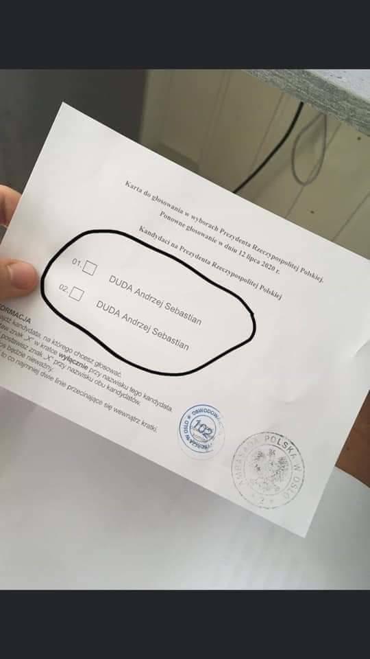 Karta do głosowania w Londynie: Dwa razy Andrzej Duda. Fejk podbija internet
