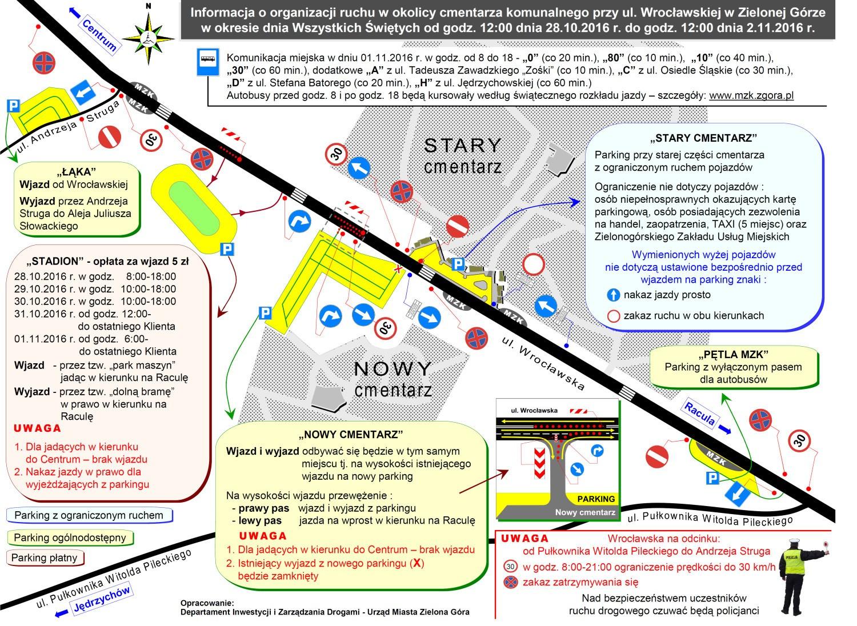 Rozkład jazdy MZK 1 listopada 2016 w Zielonej Górze