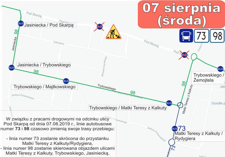 Uwaga. Zmiany na liniach autobusowych w Bydgoszczy po otwarciu Trasy Uniwersyteckiej [7.08.2019]