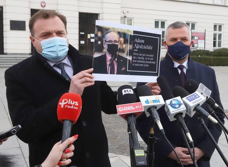 Radosław Witkowski w czasie konferencji przypomniał słowa ministra zdrowia Adama Niedzielskiego, że najpewniej czekają nas kolejne pandemie. - te słowa