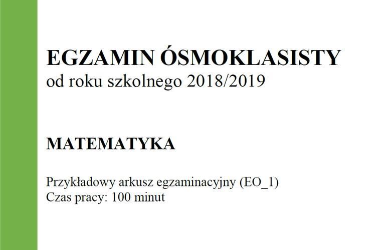 Egzamin ósmoklasisty 2018/2019 CKE - matematyka [arkusz]