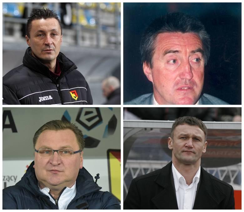 Przedstawiamy wszystkich trenerów Jagiellonii Białystok w ekstraklasie. Kto będzie następny po Ireneuszu Mamrocie?