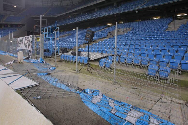 Lech Poznań: Tak wygląda zniszczony stadion po meczu z Legią
