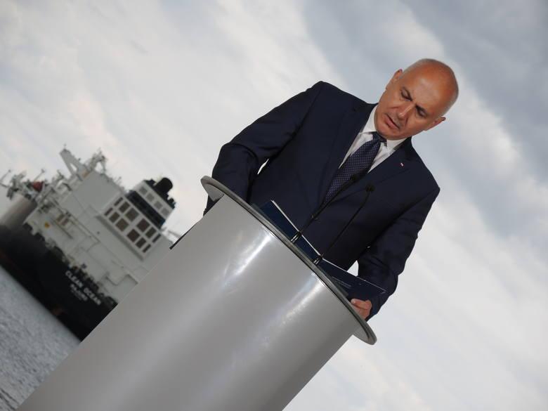 Joachim Brudziński, wicemarszałek sejmu czuje się dumny z dostawy gazu z USA