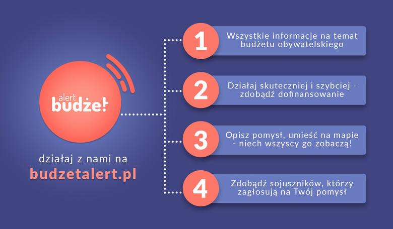 Harmonogram, pomysły i wyniki głosowania - to wszystko znajdziesz na stronie budzetalert.pl. Budżet Alert, to projekt, który w jednym miejscu zbiera