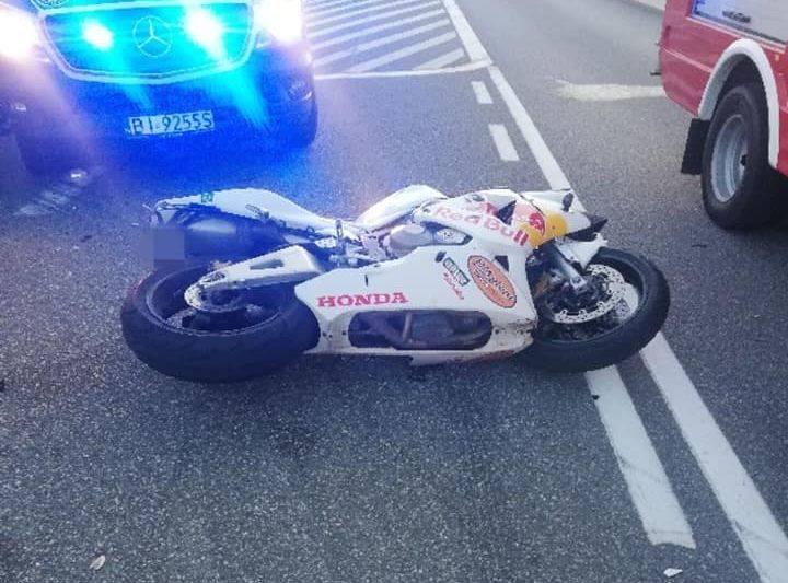 Brańsk. Śmiertelny wypadek motocyklisty na ul. Armii Krajowej [ZDJĘCIA]
