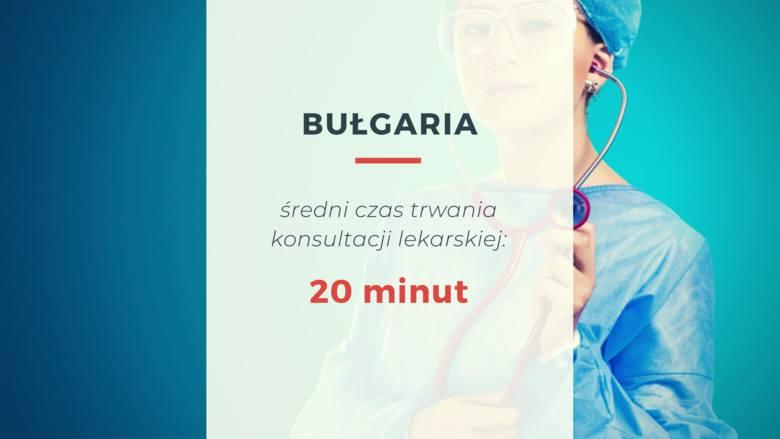W Bułgarii lekarze poświęcają pacjentom całkiem sporo czasu - średni czas trwania konsultacji lekarskiej wynosi 20 minut.