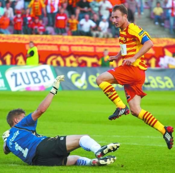 Tomasz Frankowski w jesiennym meczu z Koroną strzelił gola, ale tym razem pozostał bez zdobyczy
