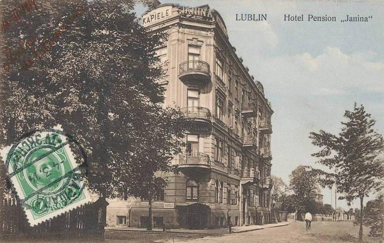 """W 1908 r. przy ul. 3 maja w Lublinie powstało kino """"Oaza"""". Mieściło się ono w hotelu """"Janina""""."""