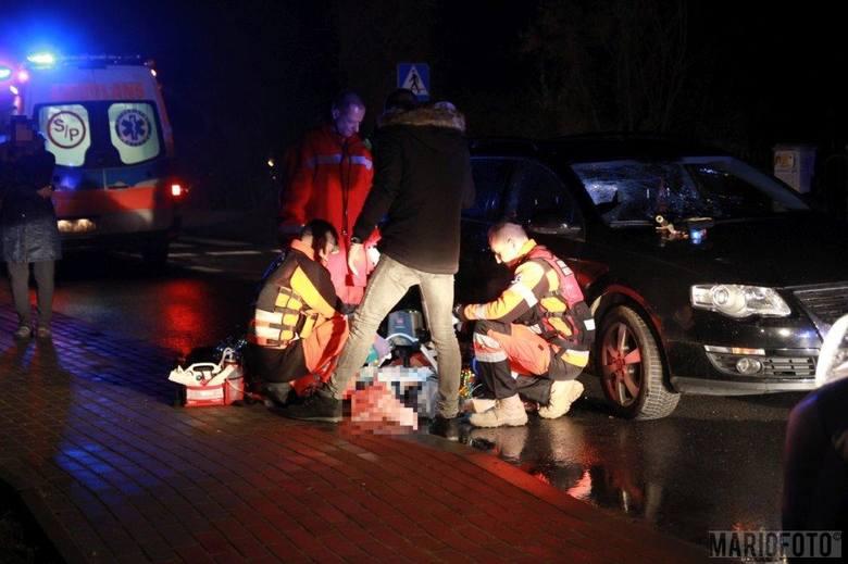 Wypadek w Górkach pod Opolem. Śmiertelne potrącenie pieszego