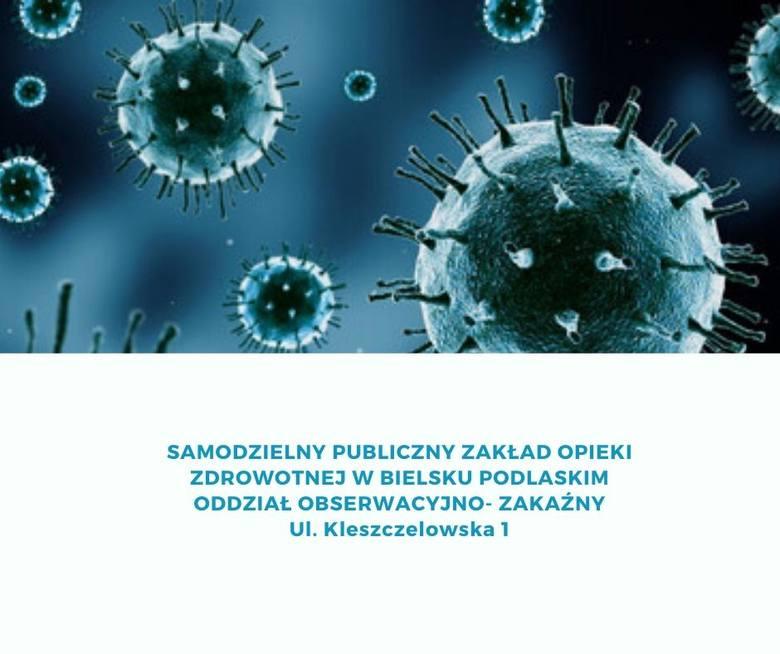 Koronawirus w Podlaskiem. Z objawami zakażenia można się zgłosić do ośmiu szpitali w Białymstoku i regionie 06.03.2020