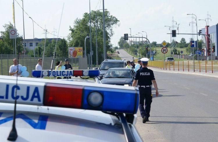 Policja i skarbówka zatrzymywały kierowców na ulicy Produkcyjnej
