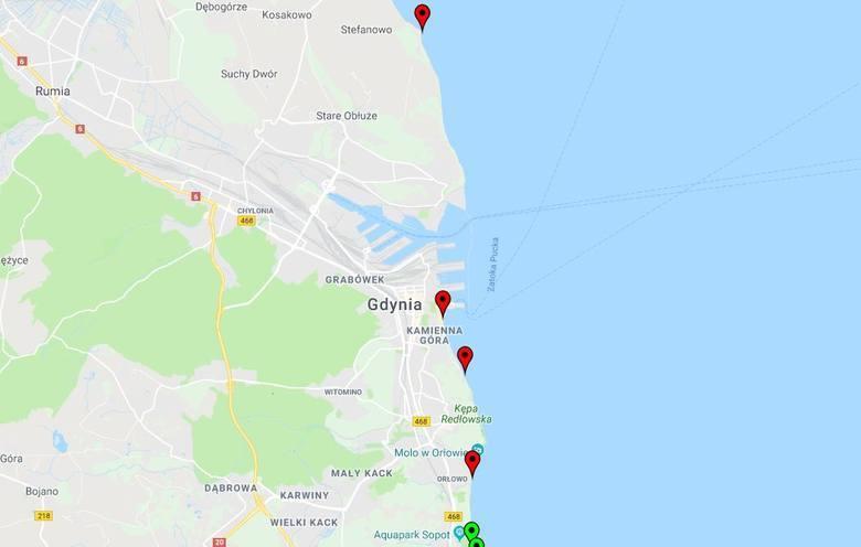 Sinice w Bałtyku. Aktualizacja 1.08.2018 [Mapa online, lista plaż] Kąpieliska zamknięte i otwarte 1.08