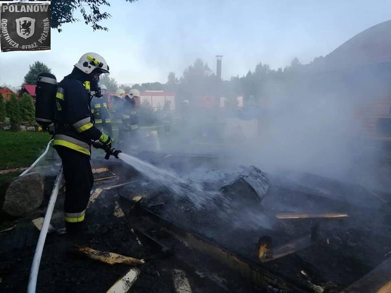 W sobotni poranek w miejscowości Krąg doszło do pożaru sauny przy domku letniskowym. W akcji gaszenia pożaru brały udział OSP Polanów, OSP Żydowo oraz
