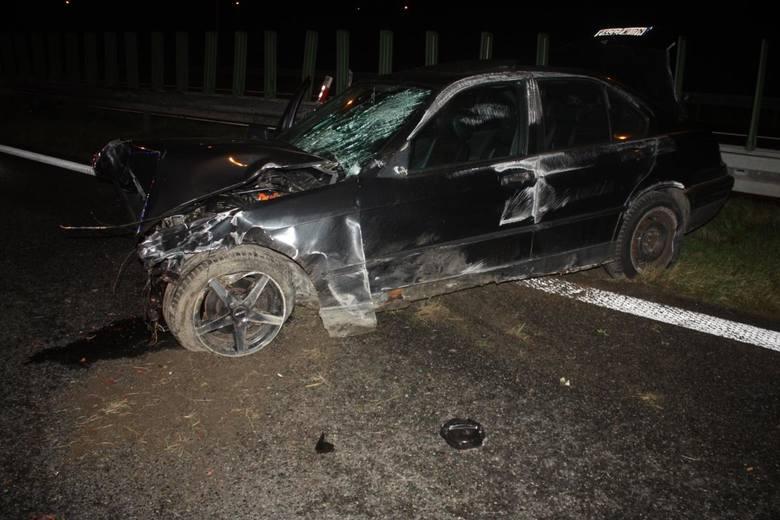 Kraków. Nietrzeźwy kierowca spowodował kolizję na A4 i uciekł. Nie był w stanie powiedzieć, dlaczego [ZDJĘCIA]
