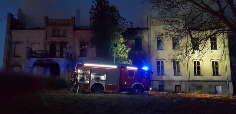 Pożar pałacu w Główczycach