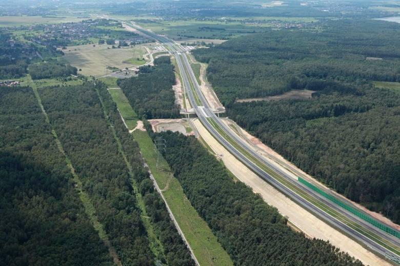 Autostrada A1 między Pyrzowicami i Piekarami Śląskimi
